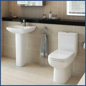 violet bathroom suite